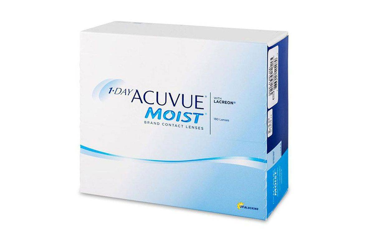 MOIST 1DAY ACUVUE  180 pck